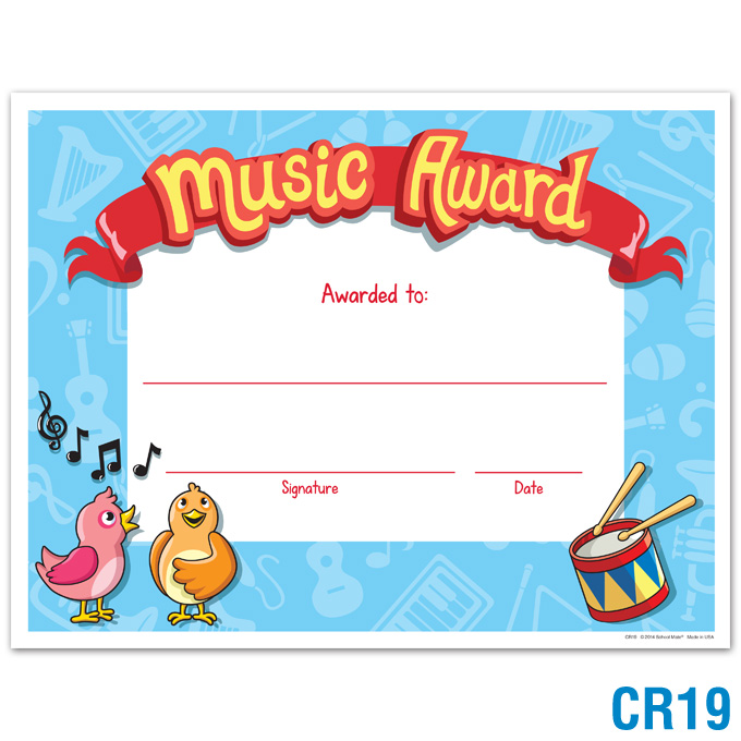 Music Award: click to enlarge