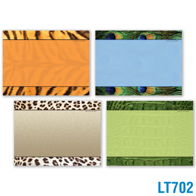 Animal Prints Locker Tags: click to enlarge