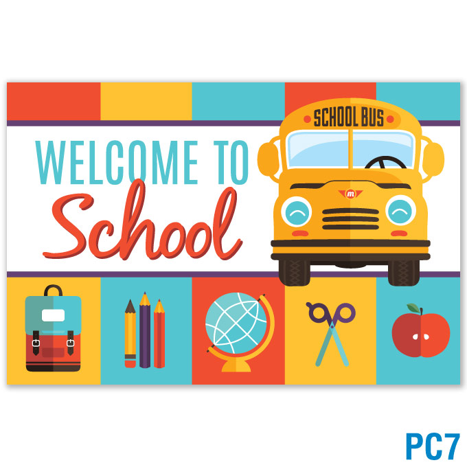 Welcome to School Postcard: click to enlarge