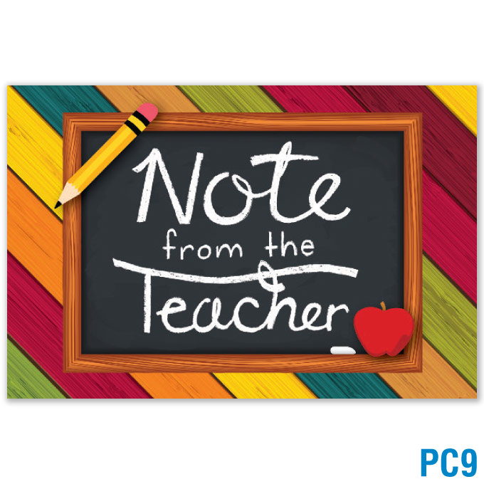 Note From the Teacher Postcard: click to enlarge