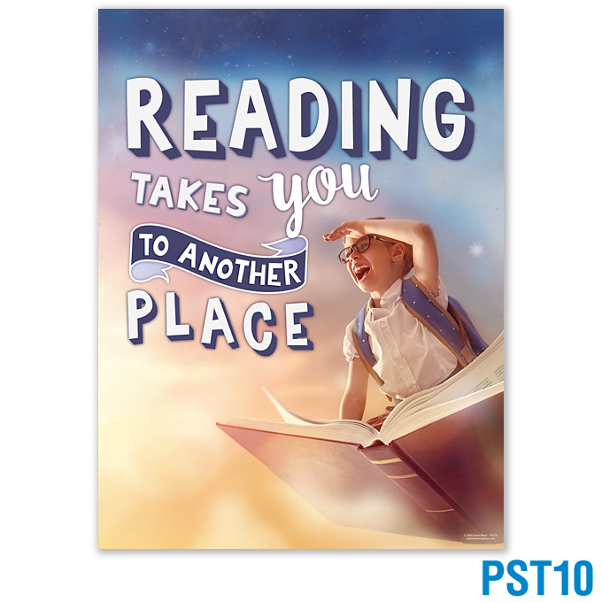 Reading Takes You To Another Place Poster: click to enlarge