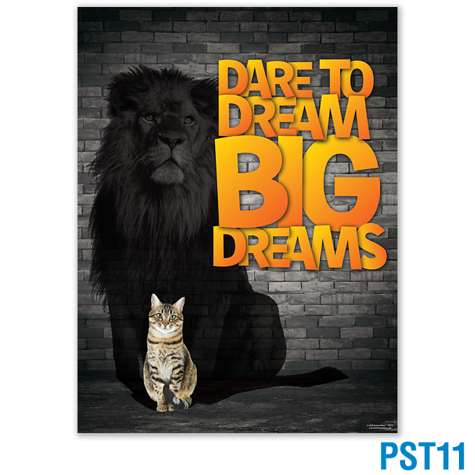 Dare To Dream Big Dreams Poster: click to enlarge