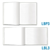 Blank Book Large - Blank & Solid-Lined Pages