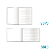 Blank Book Small - Blank & Solid-Lined Pages