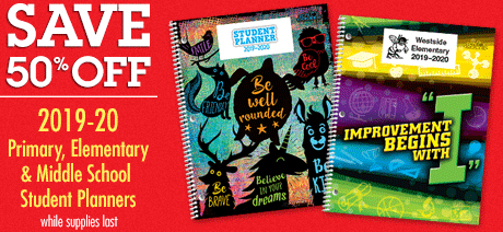50% Off Student Planners