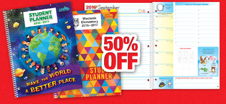 50% Off Primary Planners