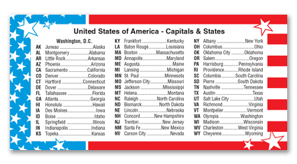 P15 - USA - Capitals and States