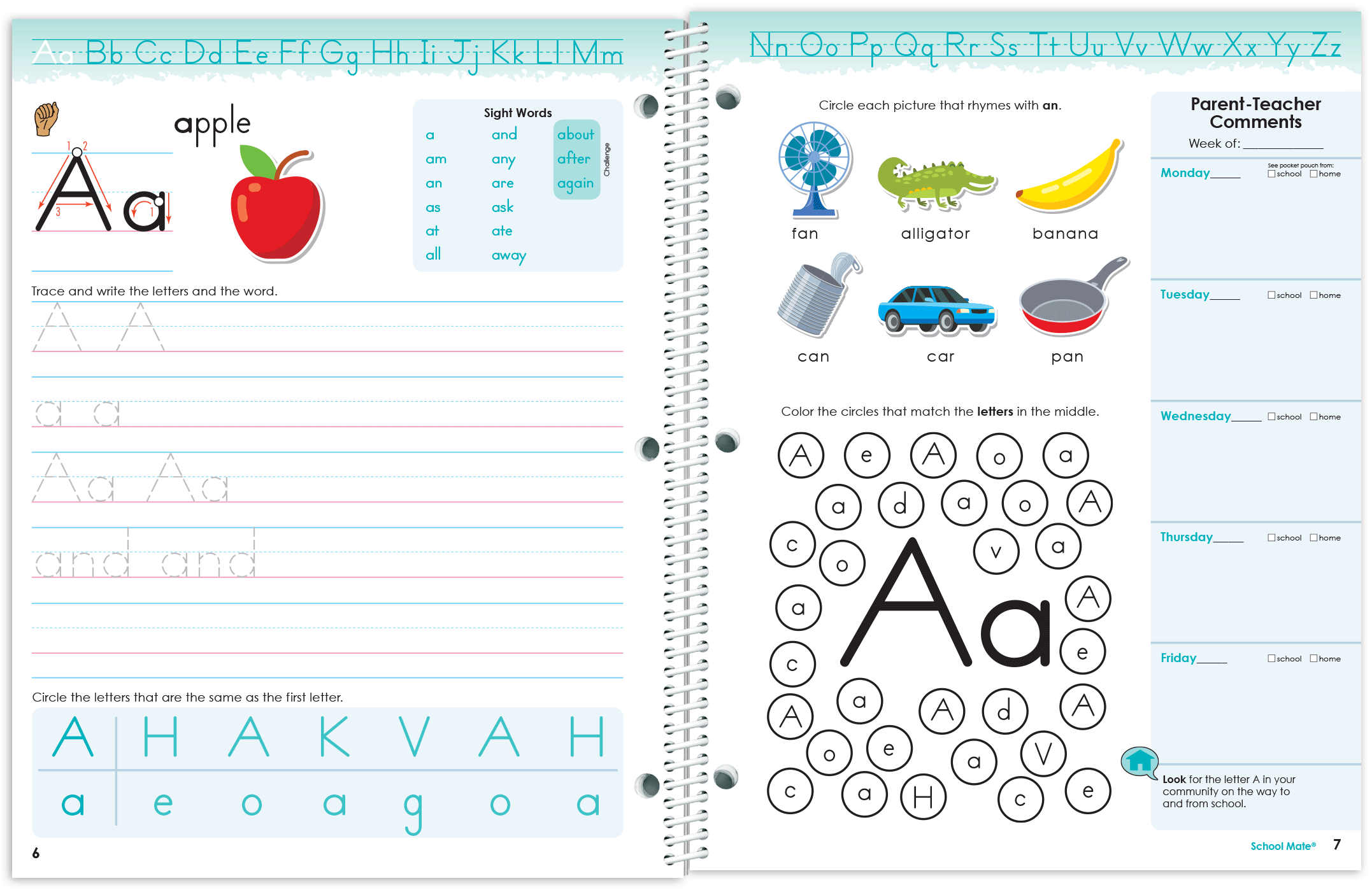 Kindergarten Journal Spread