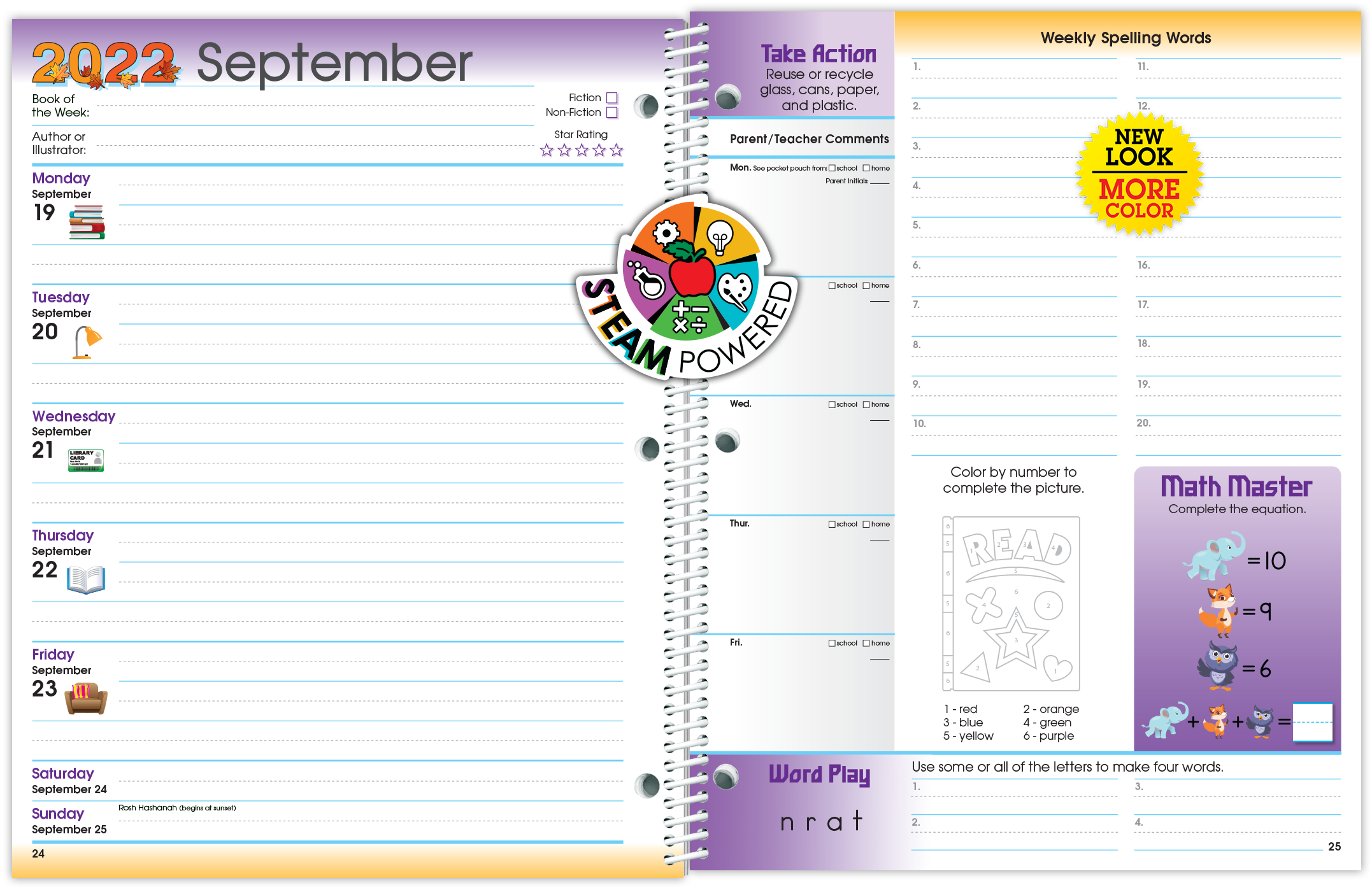 Primary Student Planner Spread