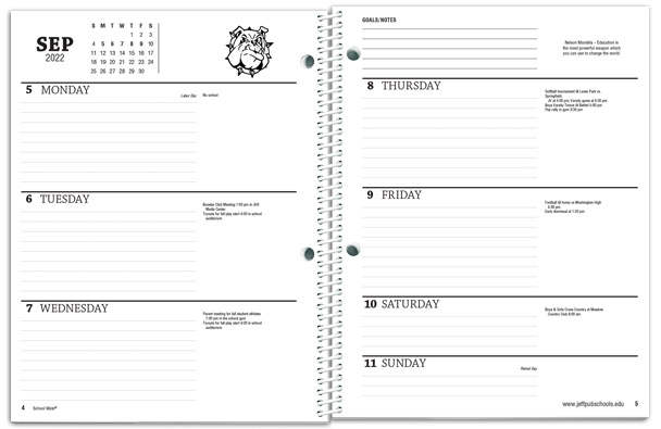 photograph relating to Student Agenda Printable called College student Planners - College or university Mate®