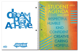 Non-Custom Dated Student Agenda Covers