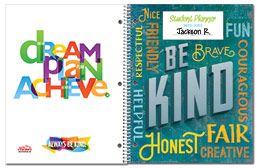 Value Elementary Student Planner Covers
