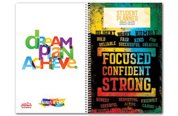 Non-Custom High School Planner Covers